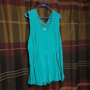 Turquoise tank top